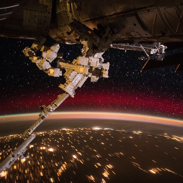 photographs and video of auroras from the International Space Station